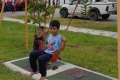 Children enjoying well maintain facility